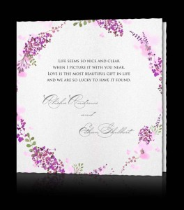 Wedding invitation B 2706