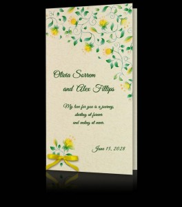 Wedding invitation C 2803