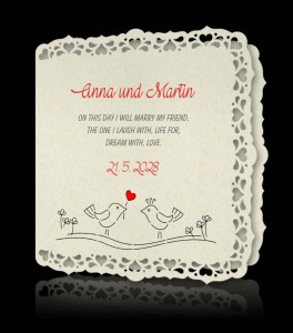 Wedding invitation C 2805