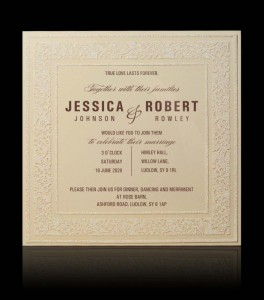 Wedding invitation C 3102