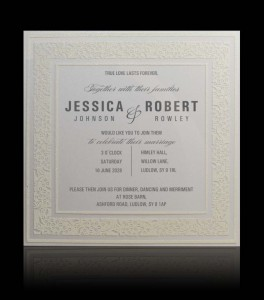 Wedding invitation C 3103