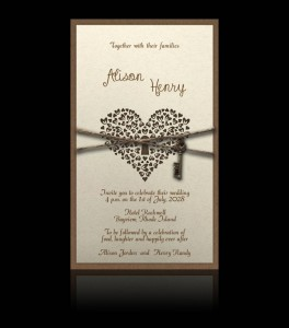 Wedding invitation D 2504