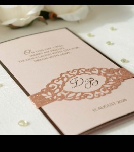 Wedding invitation D 3303